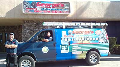 George's Heating & Air Conditioning Inc.'s Truck